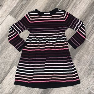 HM size 2-4 sweater dress pink ombré stripes